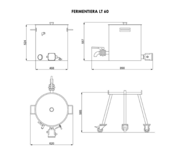 FERMENTIERA 60 LT